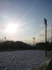 相模湖駅から歩いていくとこういう雪の景色が